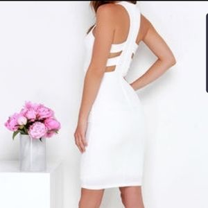 LuLu's As You Are White Bodycon Midi Dress